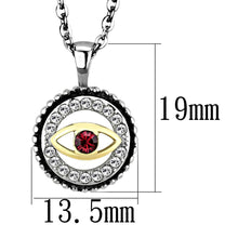 Load image into Gallery viewer, TK2527 - Two-Tone IP Gold (Ion Plating) Stainless Steel Chain Pendant with Top Grade Crystal  in Garnet