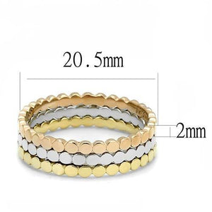 TK3180 - IP Gold & IP Rose Gold (Ion Plating) Stainless Steel Ring with No Stone