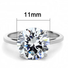 Load image into Gallery viewer, TK3428 - High polished (no plating) Stainless Steel Ring with AAA Grade CZ  in Clear