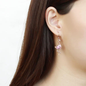 TK3663 - IP Rose Gold(Ion Plating) Stainless Steel Earrings with AAA Grade CZ  in Rose