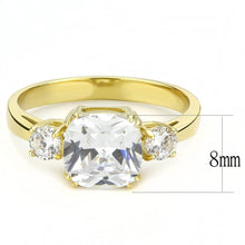 Load image into Gallery viewer, TK3674 - IP Gold(Ion Plating) Stainless Steel Ring with AAA Grade CZ  in Clear