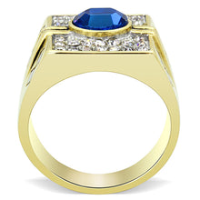 Load image into Gallery viewer, TK752 - Two-Tone IP Gold (Ion Plating) Stainless Steel Ring with Top Grade Crystal  in Montana