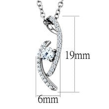 Load image into Gallery viewer, TS515 - Rhodium 925 Sterling Silver Necklace with AAA Grade CZ  in Clear
