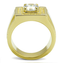 Load image into Gallery viewer, TS552 - Gold 925 Sterling Silver Ring with AAA Grade CZ  in Clear