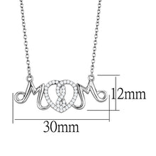Load image into Gallery viewer, TS571 - Rhodium 925 Sterling Silver Necklace with AAA Grade CZ  in Clear