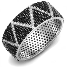 Load image into Gallery viewer, TS600 - Rhodium + Ruthenium 925 Sterling Silver Ring with Synthetic Spinel in Multi Color