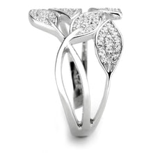 Load image into Gallery viewer, TS618 - Rhodium 925 Sterling Silver Ring with AAA Grade CZ  in Clear