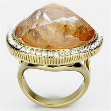 Load image into Gallery viewer, VL083 - IP Gold(Ion Plating) Brass Ring with Synthetic Synthetic Stone in Orange