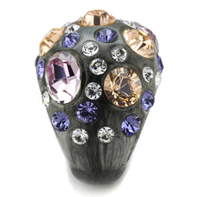 Load image into Gallery viewer, VL114 -  Resin Ring with Top Grade Crystal  in Multi Color