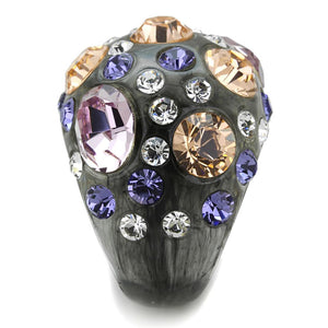 VL114 -  Resin Ring with Top Grade Crystal  in Multi Color