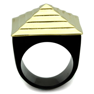 VL119 - IP Gold(Ion Plating) Stainless Steel Ring with No Stone