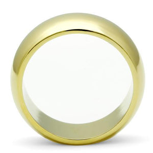 GL012 - IP Gold(Ion Plating) Brass Ring with No Stone