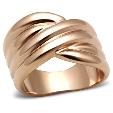GL205 - IP Rose Gold(Ion Plating) Brass Ring with No Stone