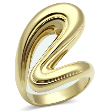 GL290 - IP Gold(Ion Plating) Brass Ring with No Stone