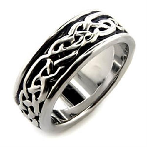 LO014 - Rhodium Brass Ring with No Stone