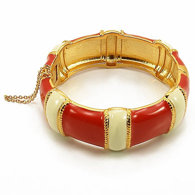 LO1435 - Gold Brass Bangle with No Stone