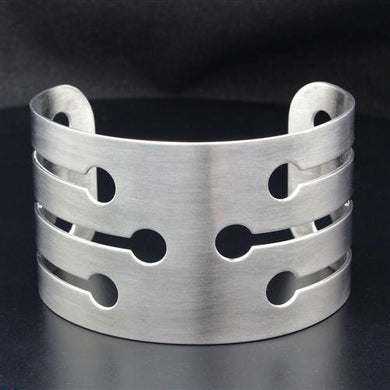 LO1947 - High polished (no plating) Stainless Steel Bangle with No Stone