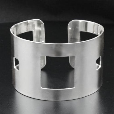 LO1952 - High polished (no plating) Stainless Steel Bangle with No Stone