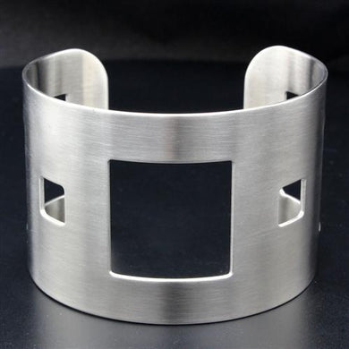 LO1954 - High polished (no plating) Stainless Steel Bangle with No Stone