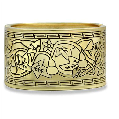 LO2120 - Flash Gold White Metal Bangle with No Stone