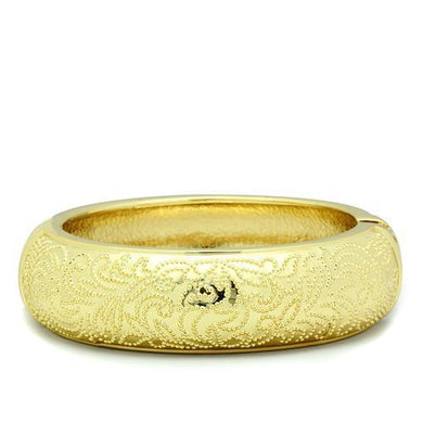 LO2132 - Flash Gold White Metal Bangle with No Stone