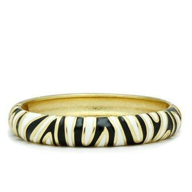LO2152 - Flash Gold White Metal Bangle with Epoxy  in No Stone
