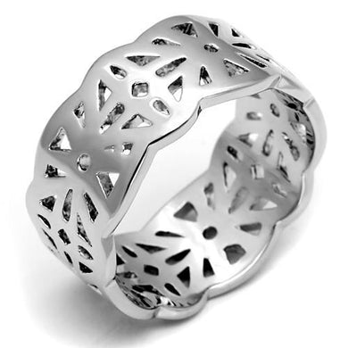 LO2483 - Imitation Rhodium Brass Ring with No Stone