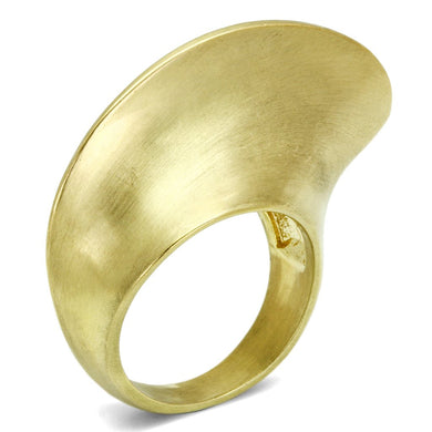 LO2539 - Gold & Brush Brass Ring with No Stone
