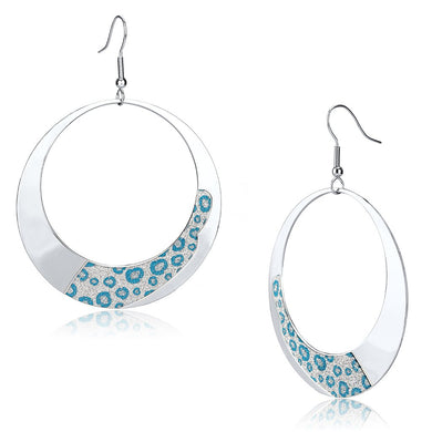 LO2728 - Rhodium Iron Earrings with No Stone