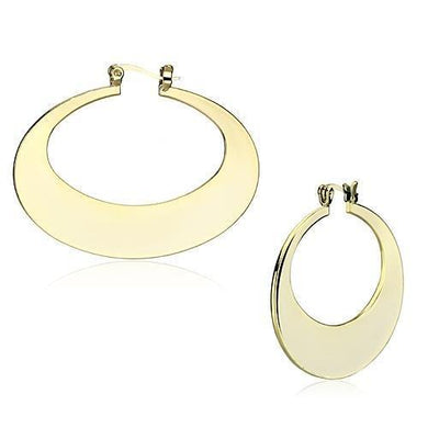 LO2737 Gold Iron Earrings with No Stone in No Stone