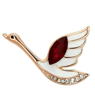 LO2762 - Flash Rose Gold White Metal Brooches with Top Grade Crystal  in Siam