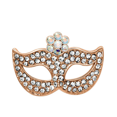 LO2807 - Imitation Rhodium White Metal Brooches with Top Grade Crystal  in Aurora Borealis (Rainbow Effect)
