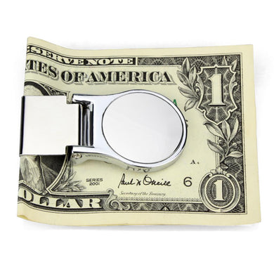 LO3420 - High polished (no plating) Stainless Steel Money clip with No Stone