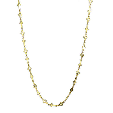 LO3453 - Flash Gold Brass Necklace with No Stone