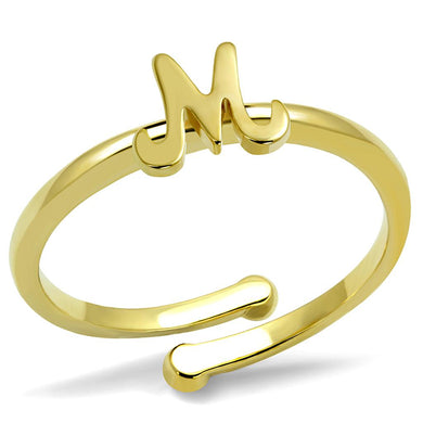 LO3994 - Flash Gold Brass Ring with No Stone