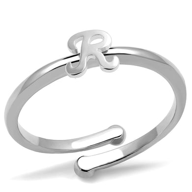 LO3995 - Rhodium Brass Ring with No Stone