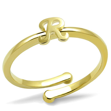 LO3996 - Flash Gold Brass Ring with No Stone