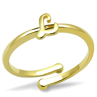LO3998 - Flash Gold Brass Ring with No Stone