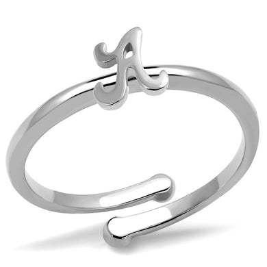 LO4005 - Rhodium Brass Ring with No Stone