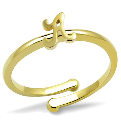 LO4006 - Flash Gold Brass Ring with No Stone