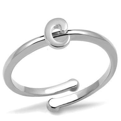 LO4007 - Rhodium Brass Ring with No Stone