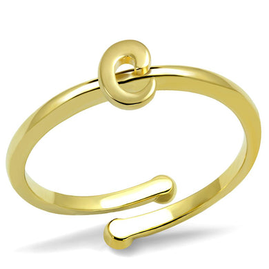 LO4008 - Flash Gold Brass Ring with No Stone