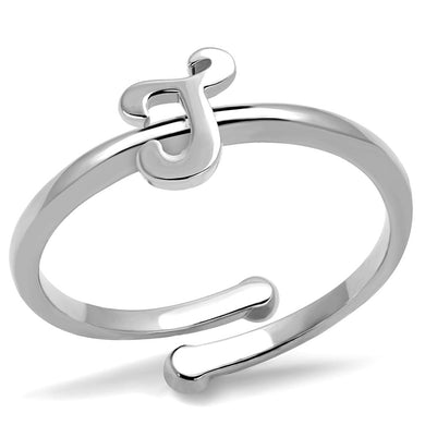 LO4011 - Rhodium Brass Ring with No Stone