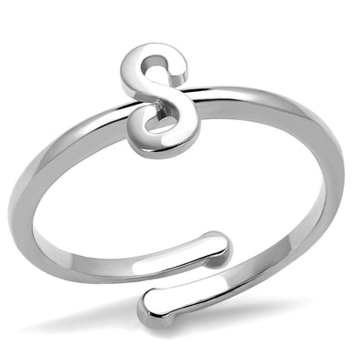 LO4013 - Rhodium Brass Ring with No Stone