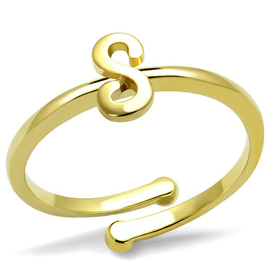 LO4014 - Flash Gold Brass Ring with No Stone