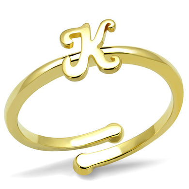 LO4024 - Flash Gold Brass Ring with No Stone