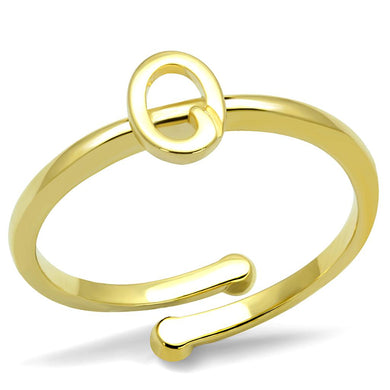 LO4036 - Flash Gold Brass Ring with No Stone