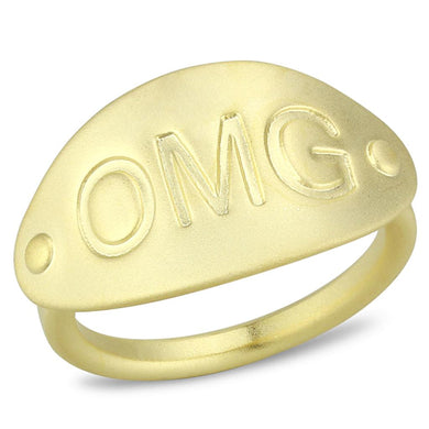 LO4243 - Matte Gold Brass Ring with No Stone