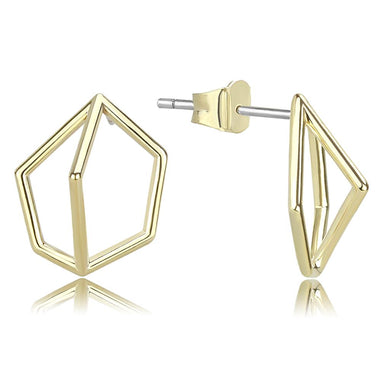 LO4266 Flash Gold Brass Earrings with No Stone in No Stone