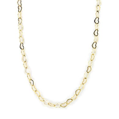 LO4696 Flash Gold Brass Necklace with No Stone in No Stone